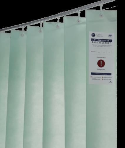 Light green curtain