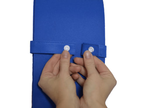 snap fastener with transparent